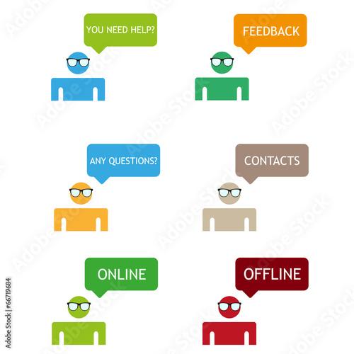feedback color vector icons