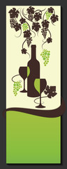 Wine list design. Vine abstract. Vector.