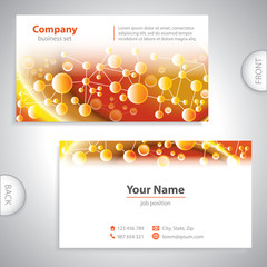 Universal gold elements business card