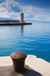 Stone pier in a small Mediterranean town