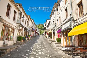 Street scene in Gjirokaster, Albania