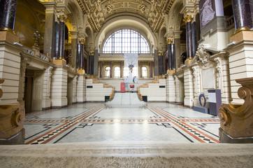 Ethnographic museum interior in Budapest, Hungary