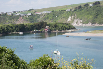 The River Avon at Bantham South Devon England UK