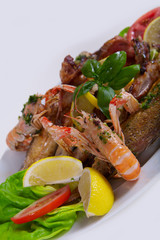 Delicious fresh Adriatic seafood dish