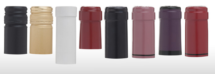 colorful wine caps