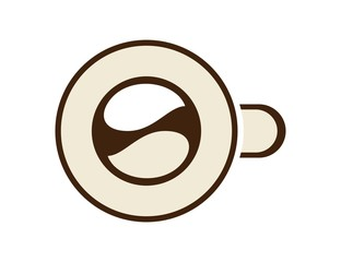 logo coffee cup symbol icon drink