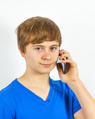 boy with a mobile phone