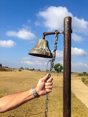 Bell on an unused golf course