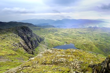 Looking Down on Stickle Tarn from Harrison Stickle