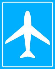Plane white sign
