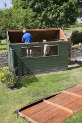 Demolishing a garden shed