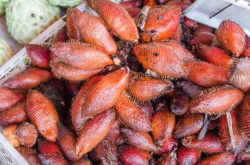 Zalacca tropical fruit in market