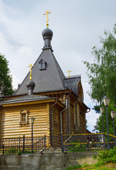 Wooden Church of Alexander Nevsky in Balakhna. Russia