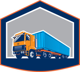 Container Truck and Trailer Shield Retro