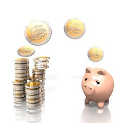 3d money pig with premium quality
