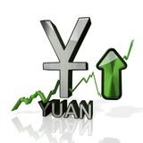 China Yuan Renminbi symbol up trade poster