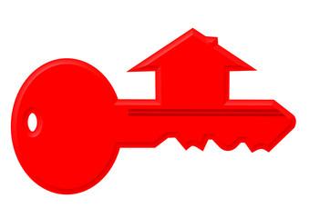 kırmızı ev anahtar sembolü