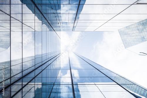 Leinwanddruck Bild Hochhaus in Paris -- Bürogebäude