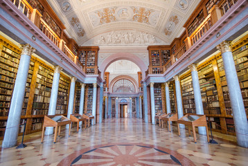Interior of Pannonhalma library, Pannonhalma, Hungary