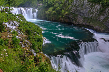 Waterfall Strbacki Buk on Una river in Bosnia