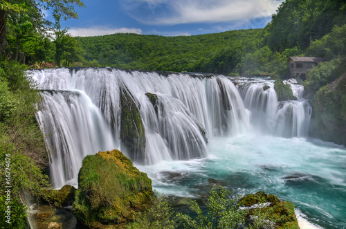 Leinwandbild Motiv Waterfall Strbacki Buk on Una river in Bosnia