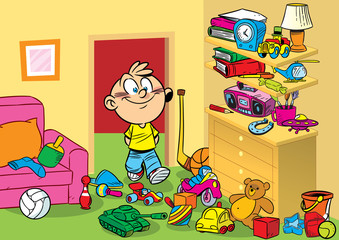 room with toys