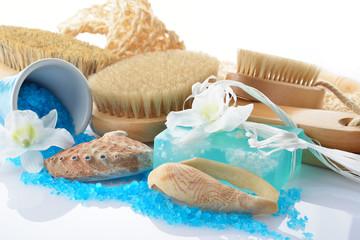 sapone sali e set da bagno naturale