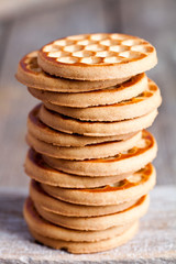 stack of honey cookies