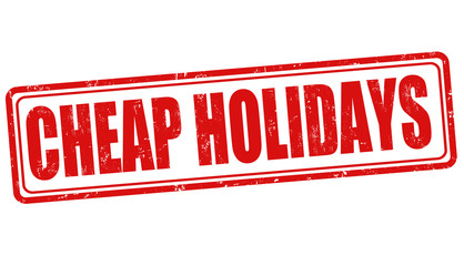 Cheap holidays stamp