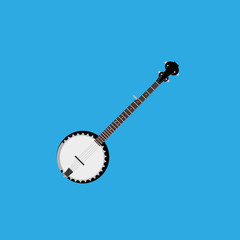 Abstract Colorful Banjo Isolated On Color Background