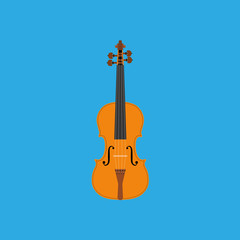 Abstract Colorful Violin Isolated On Color Background