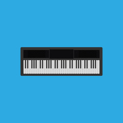 Abstract Colorful Piano Isolated On Color Background