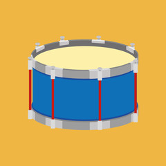 Abstract Colorful Drum Isolated On Color Background