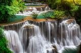 Fototapety Main level of Huai Mae Kamin Waterfall