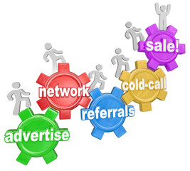 Selling Sales Steps Advertise Network Cold Call Referrals