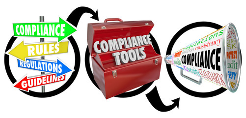 Compliance Three Step Diagram Following Rules Guidelines