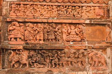 Figurines made of terracotta, Bishnupur , India