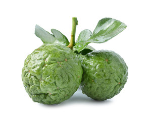Bergamot[Kaffir lime] isolate on whit background