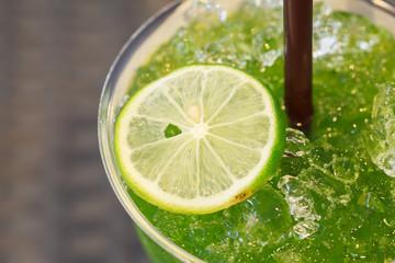 Lime Juice Close Up
