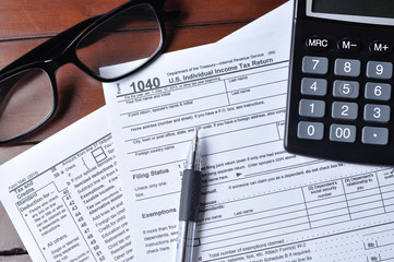 US 1040 Tax Form