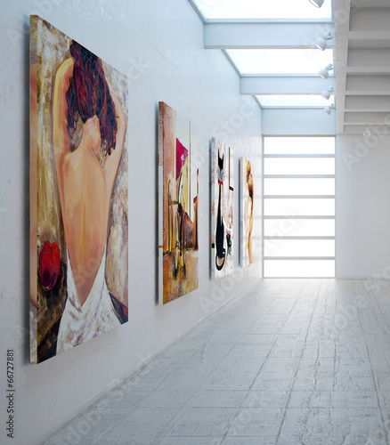 Leinwandbild Motiv Bildergalerie (detail)