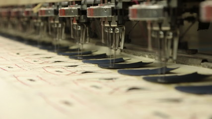 sewing & embroidery machine in slow motion