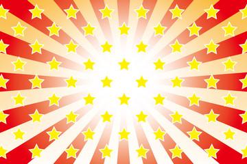 背景素材壁紙(星, 星の模様, 星柄, 放射状, 放射)