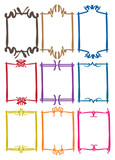Fototapety Simple border designs with different colors