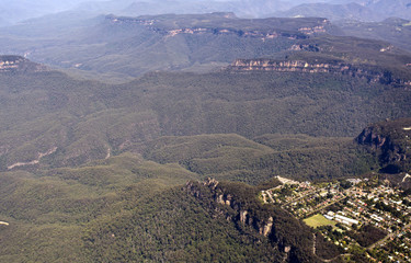 Aerial view of the Blue Mountains