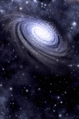 Galaxy and starfield background
