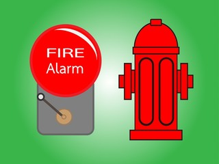 Alarm bell and Fire hydrant