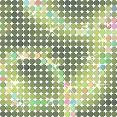 Shiny dots background in green
