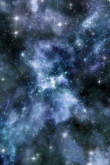 Nebula and starfield background
