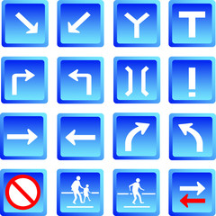 Road signs ,Vector illustration